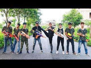 3T Nerf War : Squad Alpha & Crime Team Kidnapper Nerf guns | Couple Nerf Battle Arena