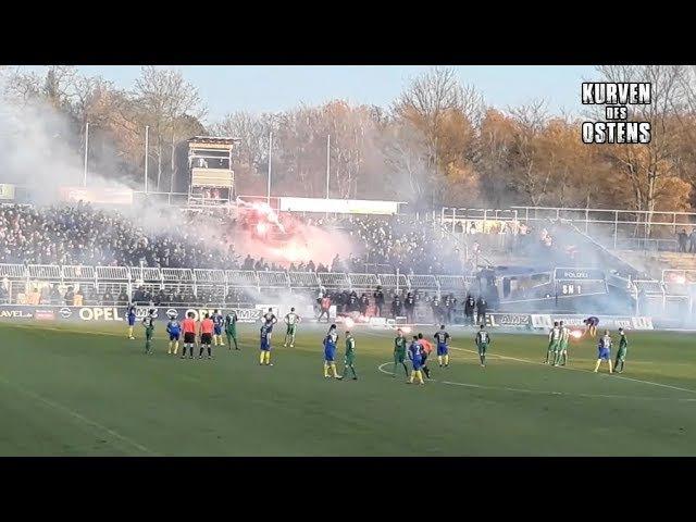 1. FC Lokomotive Leipzig 0:0 BSG Chemie Leipzig 22.11.2017   Chroeos, Pyroshows Support