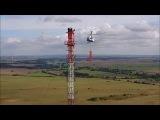 Montage einer DAB+ Antenne mit Hubschrauber Mi-8 MSB