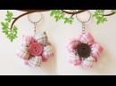 Flower from Fabric Trinket Craft Tutorial For Keys and Gift Цветок из Ткани Брелок Для Ключей