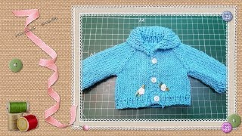 Tutorial: Chaqueta de punto para muñecas / knit jacket for dolls tutorial