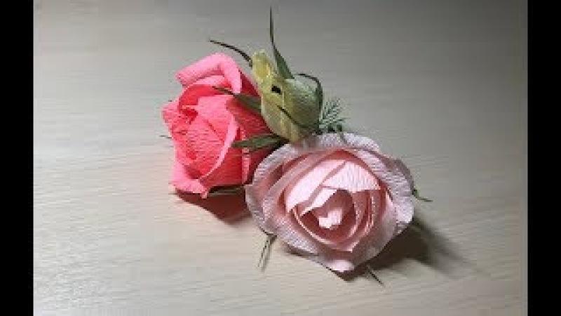 Цветы из конфет Пышная роза из конфет