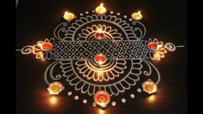 Beautiful easy rangoli designs for diwali 2017 - diwali kolam designs - latest muggulu designs