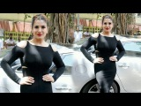 Raveena Tandon In Black TIGHT Dress At The Bharat Prerna Awards