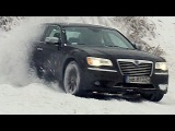 Lancia Thema  Chrysler 300C drifting on snow - winter test drive