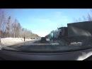 19.03.2018. Крупное ДТП на выезде из Северодвинска с участием нескольких автомобилей.