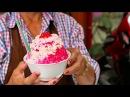 Bangkok Street Food Shaved Snow Cone Dessert Thailand