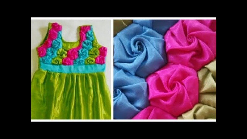 Colourful Frock Origami Smocking