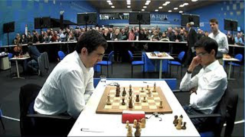 Anish Giri Beats Vladimir Kramnik || TATA Steel Chess 2018 || Round 2