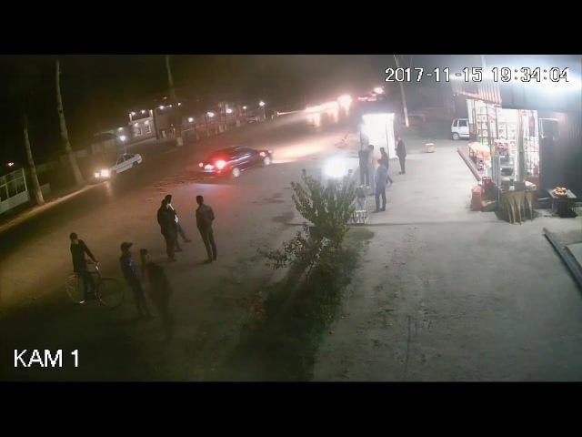 Авария с велосипедом запись с видеонаблюдение