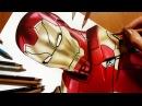 Speed Drawing NEW Iron Man from Spider Man Homecoming movie XLVII Suit Jasmina Susak