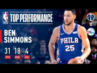 Ben Simmons Has Career-Highs in 31 Points and 18 Rebounds | November 29, 2017