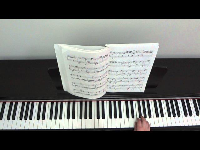 Л Бетховен К Элизе Урок для фортепиано Часть 4
