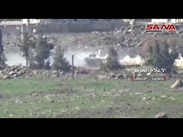 САА отразила все атаки бандформирований на военные объекты вблизи города Аль Баас в провинции Кунейтра