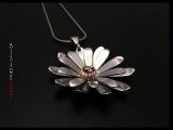 Как сделать цветок-кулон Гербера Дэйзи из серебра своими руками