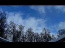 Небо над Вязниками в тылу циклона 16.03.18 Timelapse