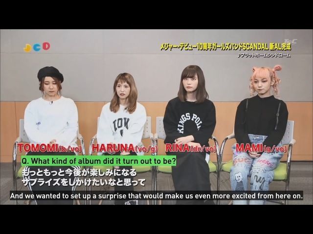 【English Subs】SCANDAL Talks About