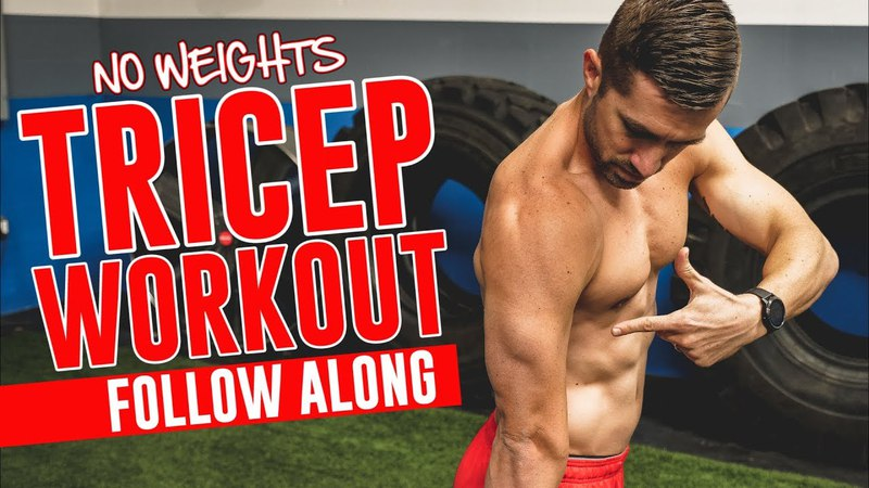 TRICEP Workout Without Weights - Complete Follow Along (Bodyweight At-Home Routine!)