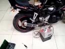 Мотоцикл Suzuki бандит замена выхлопного патрубка и установка прямоточного глушителяМастера Борис Ильин Андрей Литвинович