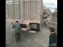 Помог грузовичку войти в поворот