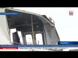 Пассажирский автобус перевернулся недалеко от села Каштановое Симферопольского района Машина на полной скорости вылетела в кювет
