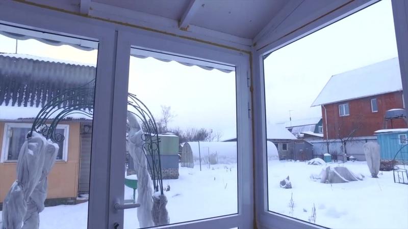 Остекление дачной беседки, алюминиевые окна Проведал. Установка от компании Окна Стрит