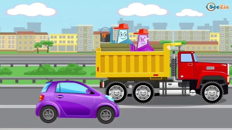 Роботы забираются в кузов грузовичка и проказничают