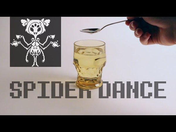 Undertale Spider Dance with a glass of water and spoon 🥄