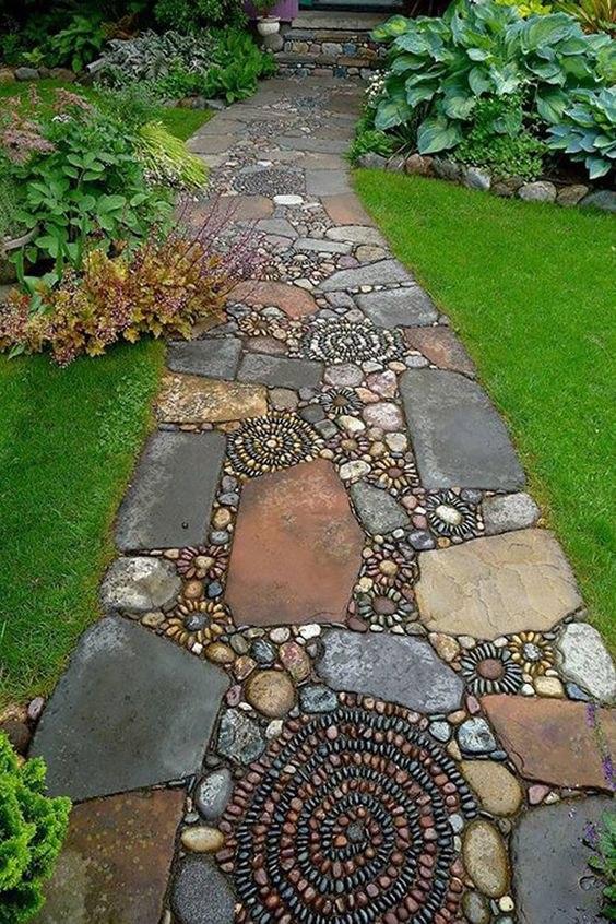 Красивые дорожки из камней
