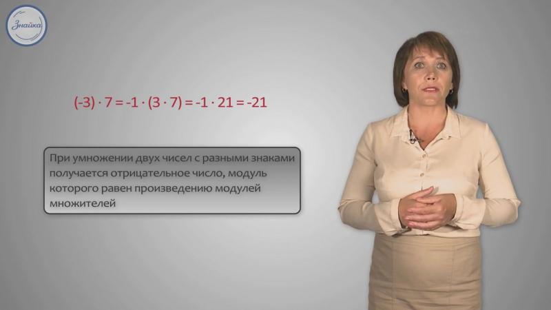 6 класс . Умножение и деление положительных и отрицательных чисел