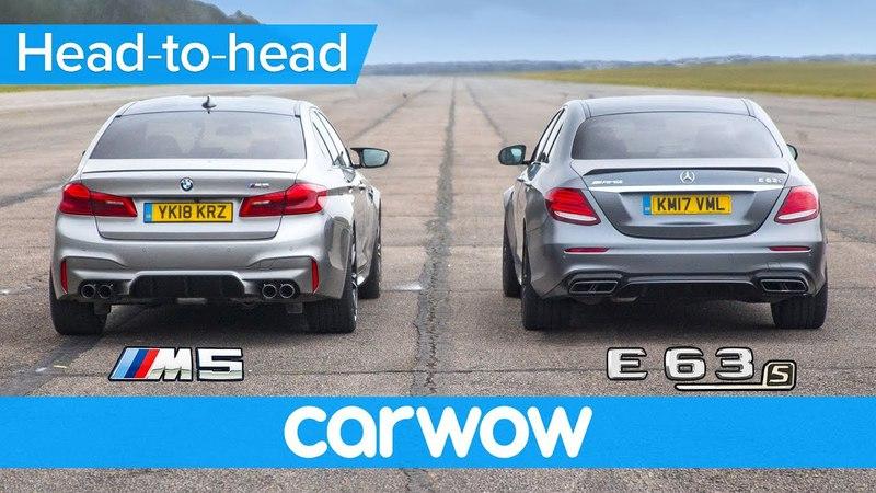 New BMW M5 vs Mercedes-AMG E63 S - DRAG RACE, ROLLING RACE BRAKE TEST