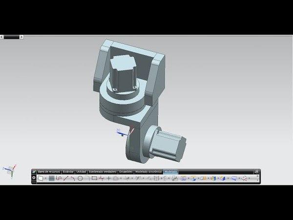 5 axis head 3D design