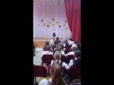 Выступление моей дочери в школе на конкурсе чтецов