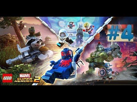 4 прохождение игры Lego Marvel Super Heros 2:битва на сакааре против красного короля.