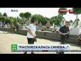 Журналисту в прямом эфире дали по морде ВДВ.  расплескалась синева