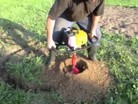 Мотобур земляной Iron Mole E-43 и шнек 250мм. (тест обычного пользователя, осень 2011г.)