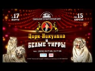 Цирк Никулина и белые тигры c 17 марта по 15 апреля