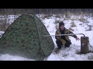 ОТОПЛЕНИЕ ПАЛАТКИ от ФИНСКОЙ СВЕЧИ, для зимней рыбалки