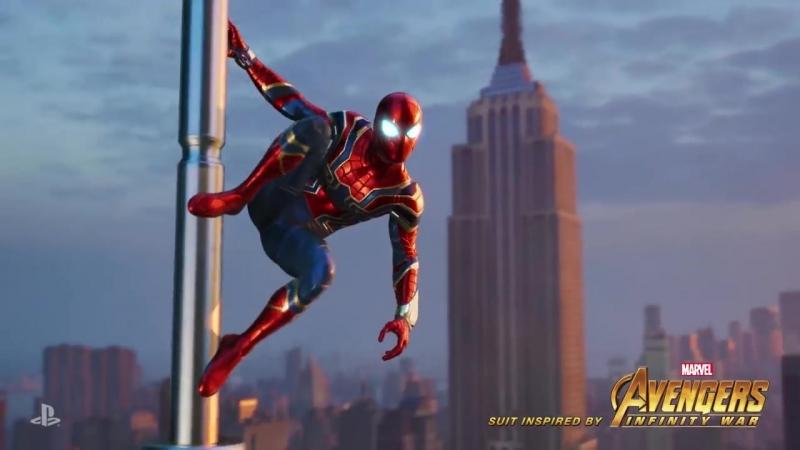 Трейлер костюма по фильму Мстители: Война бесконечности за предзаказ игры Marvels Spider-Man!