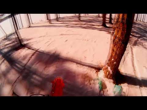 На питбайке apollo start 125 по зимнему лесу
