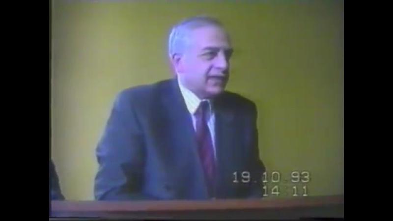 პრეზიდენტ ზვიად გამსახურდია ლანჩხუთში 19.10.1993წ
