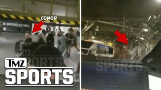 Conor McGregor & Entourage Injure UFC Fighter In Bus Attack, Insane Video | TMZ Sports conor mcgregor & entourage injure ufc fig