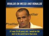 Ривалдо высказался о Месси и Роналду