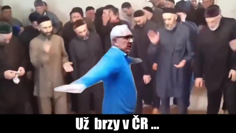 Drahoš tančí před muslimy