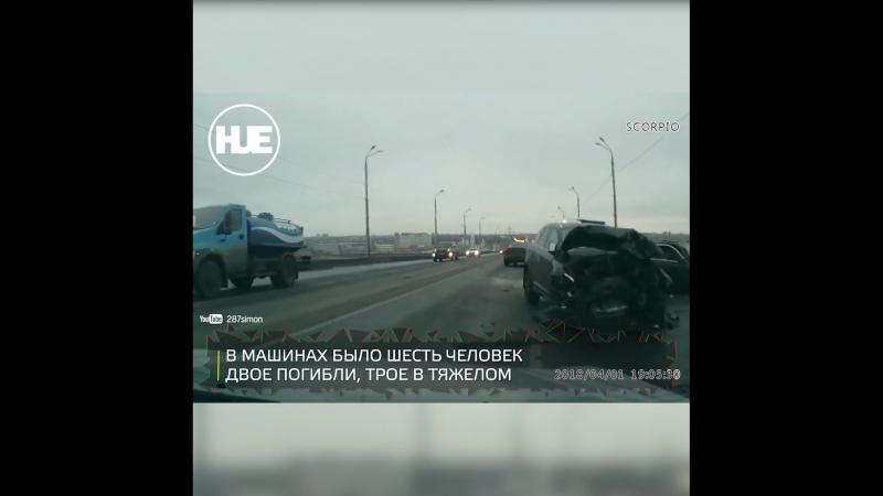 Под Нижним Новгородом Volvo и BMW столкнулись всмятку