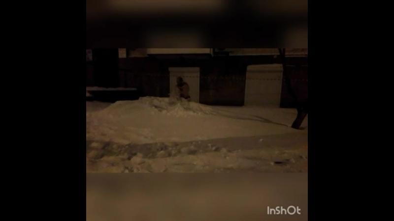 Обтирание снегом - 23.02.2018.