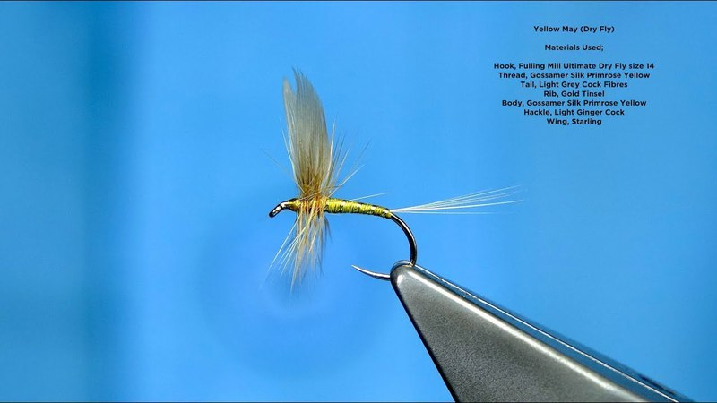 Tying a Traditional Winged Dry Fly the Yellow May with Davie McPhail