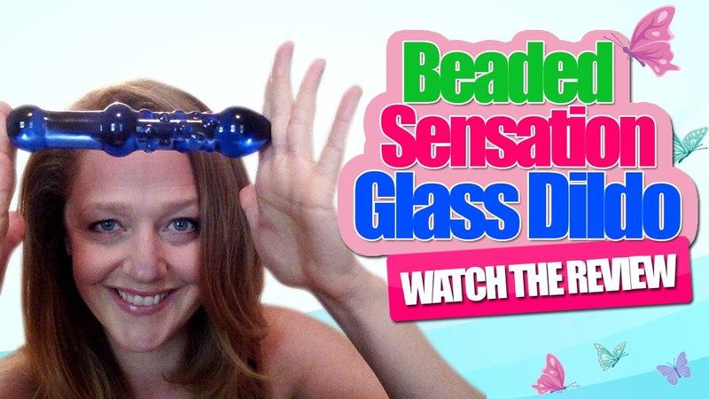 Beaded Sensations Glass Dildo