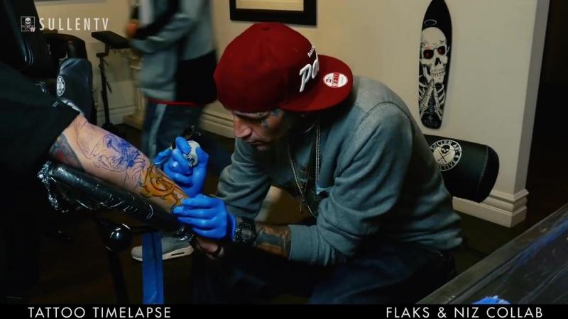 Tattoo Timelapse - Flaks and Niz Collaboration
