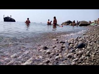 Симеиз. Спокойное чёрное море. Солнце, лето...